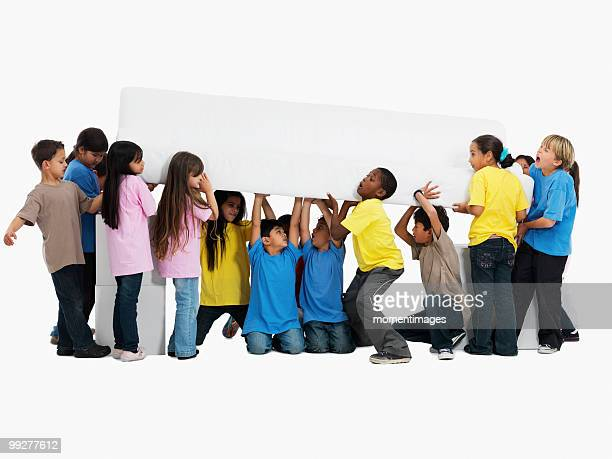 group of children - carrying stock pictures, royalty-free photos & images
