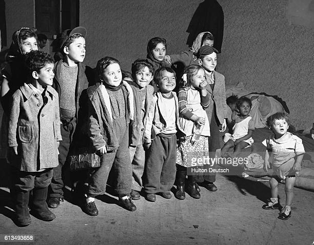 A group of children who fled to the UK with their families after the 1956 Hungarian uprising