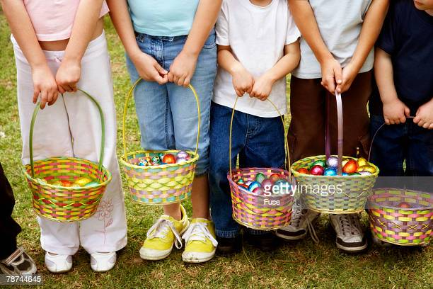 Group of Children with Easter Baskets