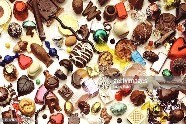 group of chocolate candies - sweet food stock pictures, royalty-free photos & images