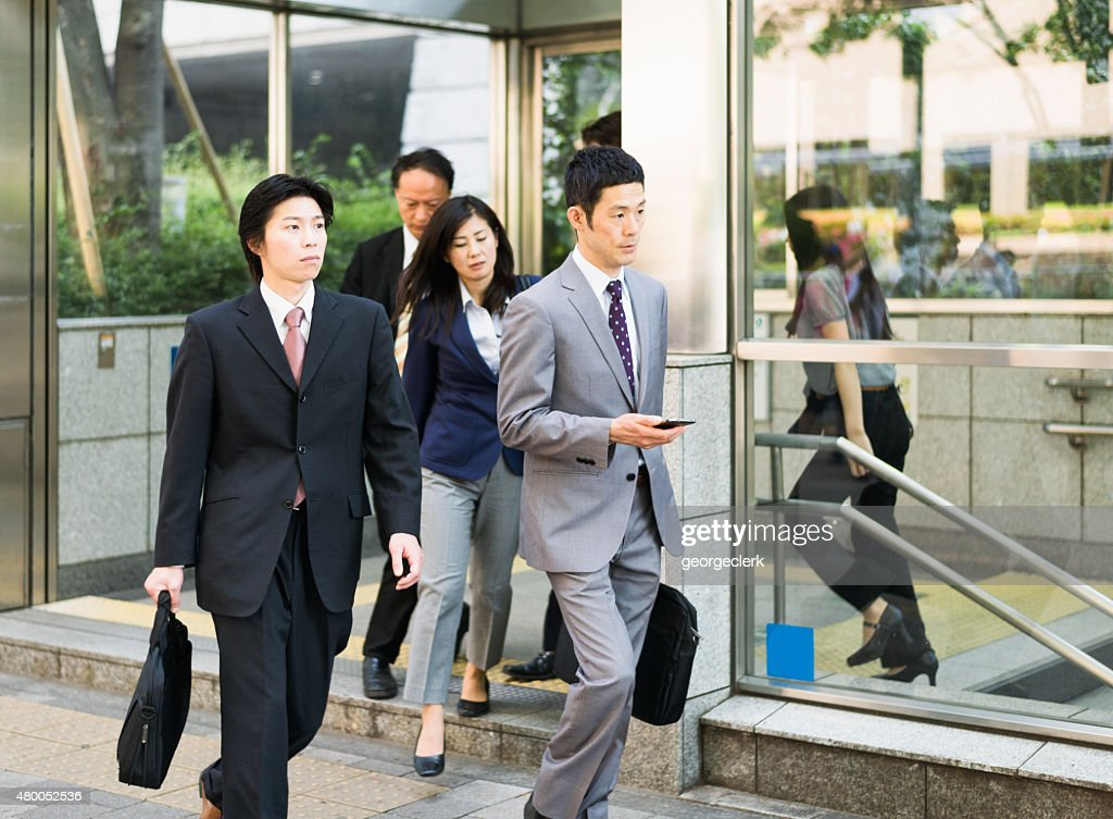 Group of city commuters in Japan : Stock Photo