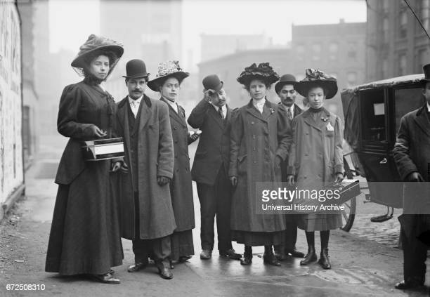Group of Collectors for Italian Sufferers of 1908 Messina Italy Earthquake New York City New York USA Bain News Service January 1909