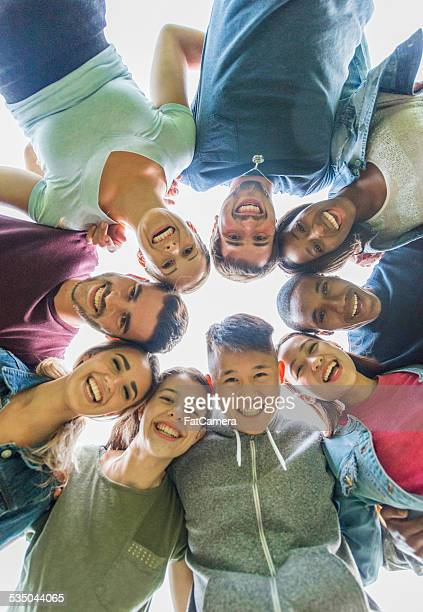 group of college students - 18 19 years stock pictures, royalty-free photos & images