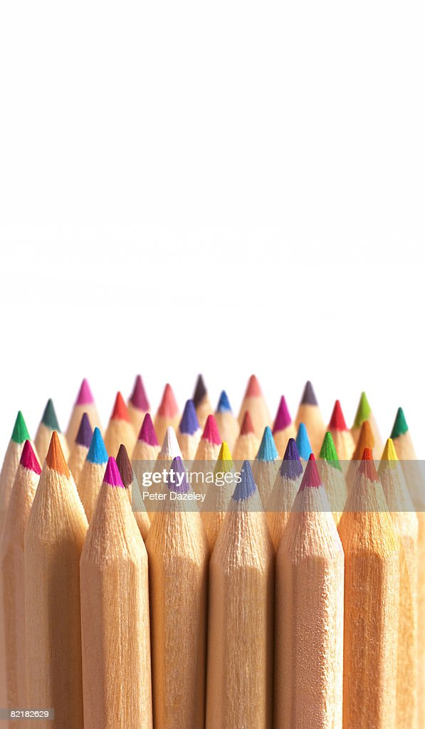 A Group Of Coloring Pencils Stock Photo   Getty Images