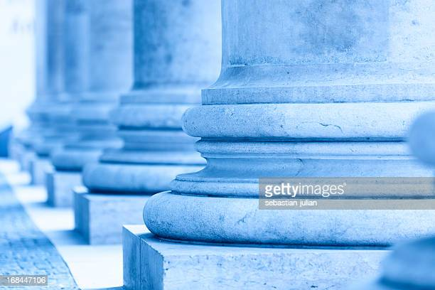 group of corporate blue business columns - big bottom stock pictures, royalty-free photos & images