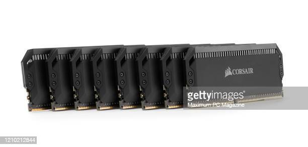 A group of Corsair Dominator Platinum RGB 32GB DDR4 memory modules taken on March 11 2019