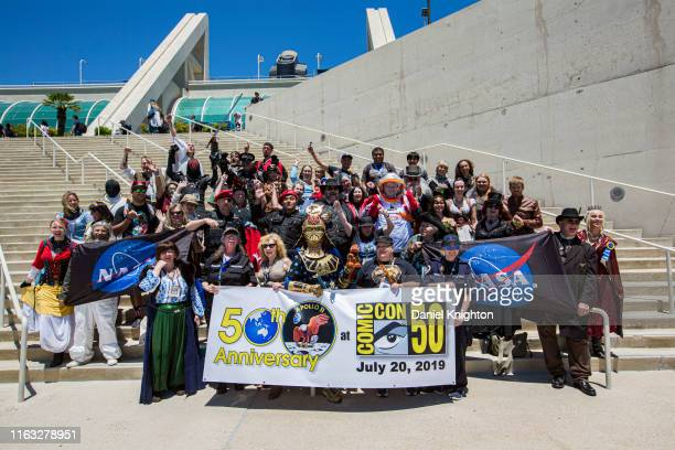 Group of cosplayers gathered to celebrate the 50th Anniversary of Comic-Con International and the 50th Anniversary of the Apollo 11 Moon Landing at...