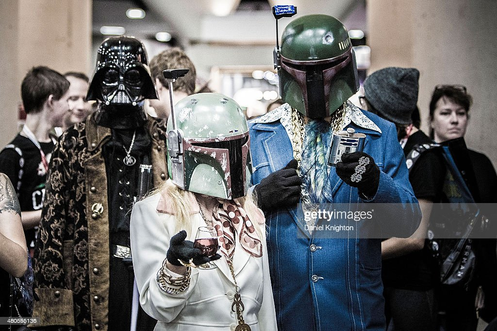 A group of costumed fans attend Comic-Con International at San Diego Convention Center on July 12, 2015 in San Diego, California.