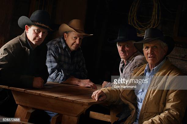 A group of cowboys