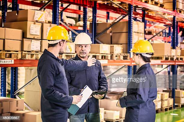 Group of Coworkers in Warehouse