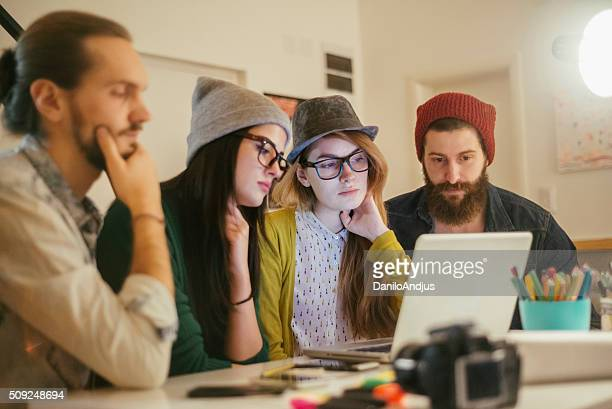 group of creative designers working togheter