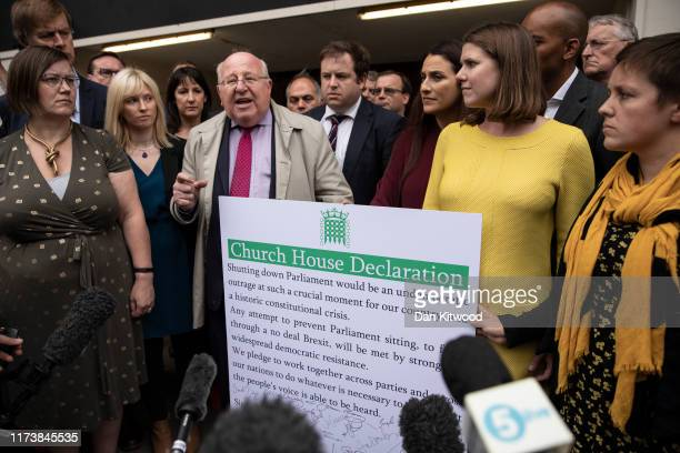 A group of cross party MPs including Mike Gapes MP for Ilford Independent Party of Change Leader of the Liberal Democrats Jo Swinson Labour MP...