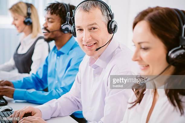 Group of customer service representatives.