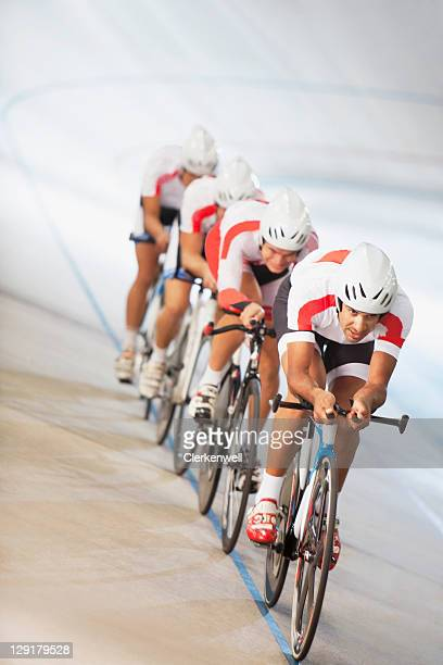 Group of cyclists in competition
