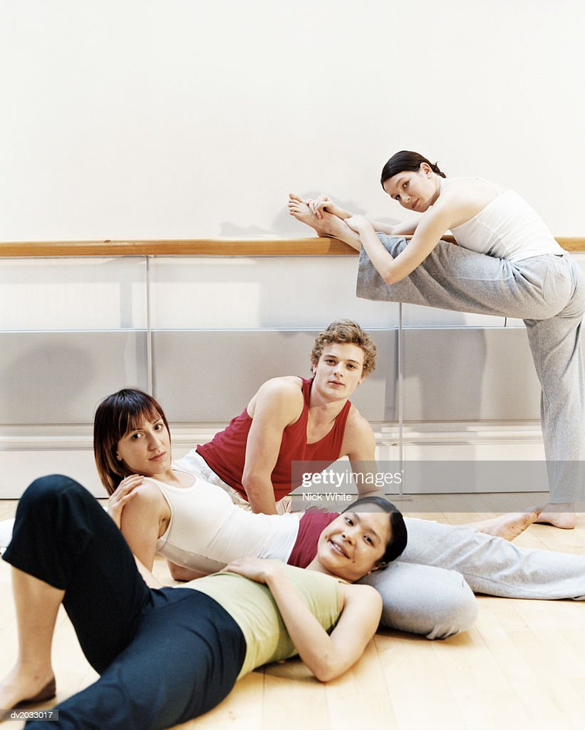 Group of Dancers in a Studio : Stock Photo