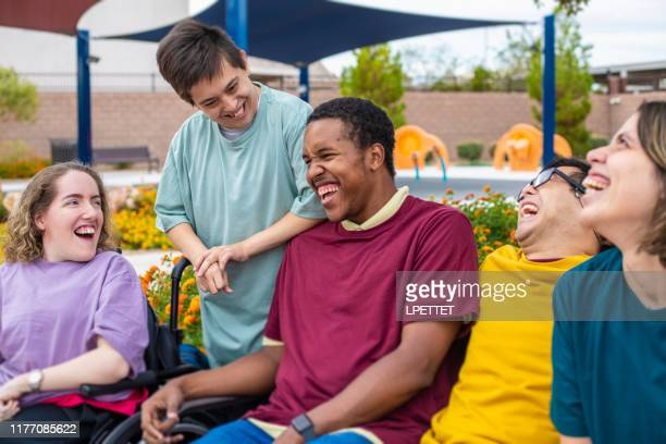 a group of disabled people - persons with disabilities stock pictures, royalty-free photos & images