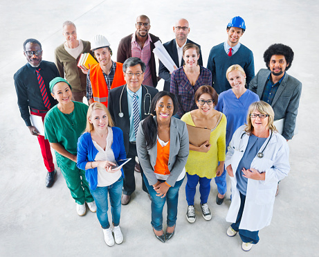 Group of Diverse Multiethnic People with Various Jobs 513957135