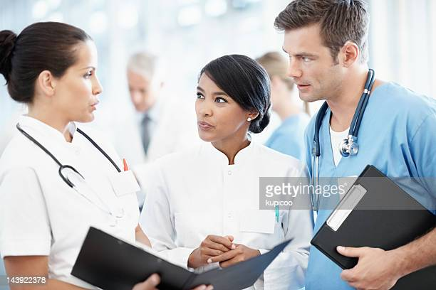Group of doctors discussing medical case