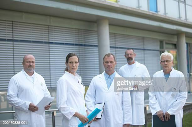 Group of doctors outdoors, portrait