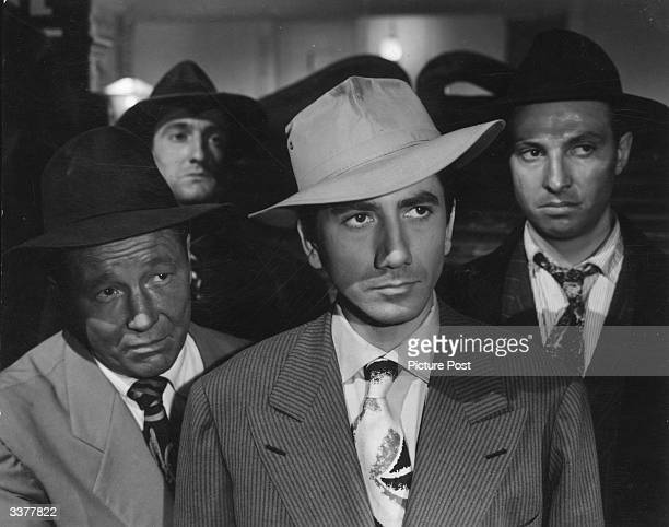 Group of dubious gangster characters in the French parody film 'Chicago Digest' starring Michel Piccoli and Daniel Gelin. Original Publication:...