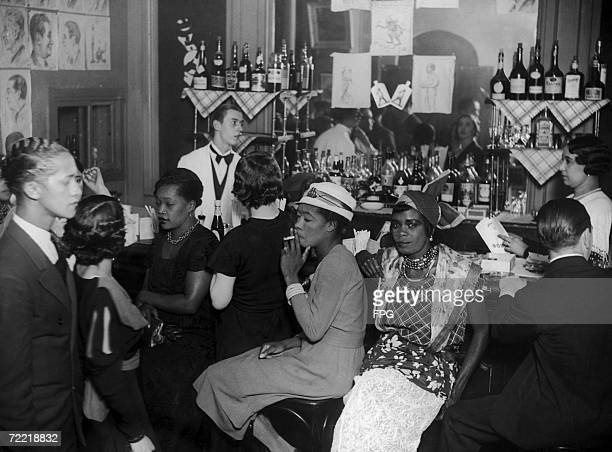 A group of 'entraineuses' in a Paris bar circa 1925 These women are employed as nightclub hostesses to encourge the customers to buy drinks