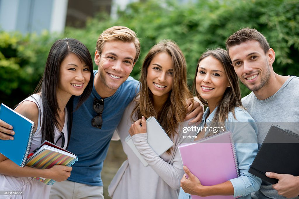 Group of exchange students : Stock-Foto