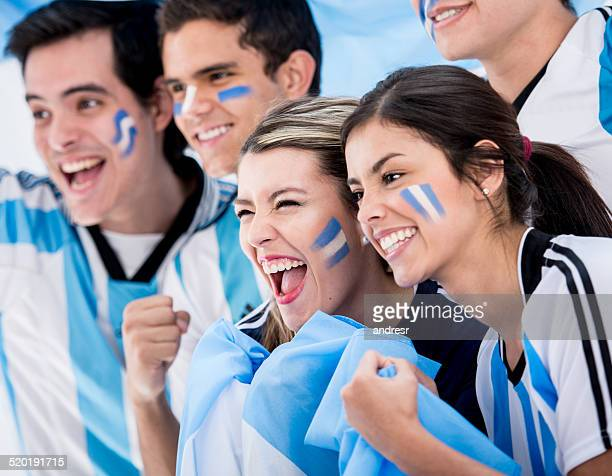 group of football fans - argentina stock pictures, royalty-free photos & images
