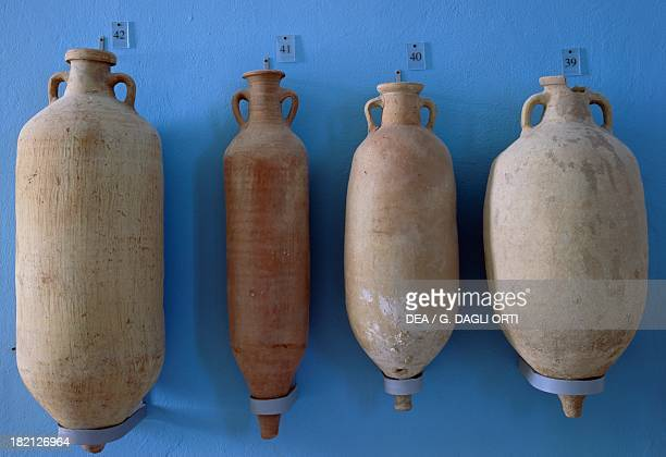 Group of four Imperialage oil amphorae Roman Civilisation 1st5th century Carthage Musée National De Carthage