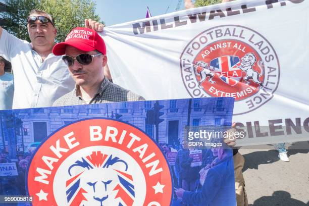 A group of freedom of speech activists march towards the main stage during the Day for Freedom event in Whitehall The Day for Freedom rally was...