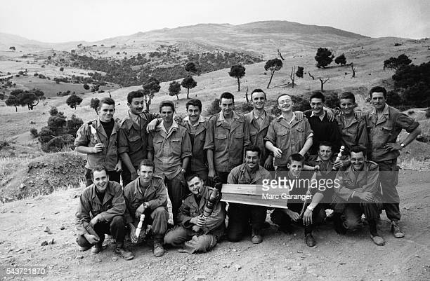 Group of French soldiers on Pere Cent, the 100th day before the liberation of Algeria.