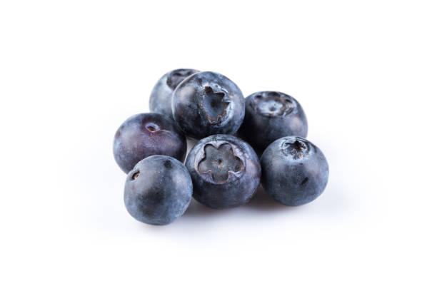 group of fresh juicy blueberries - 藍莓 個照片及圖片檔