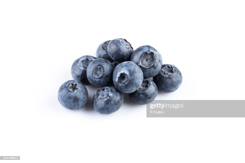 Group of fresh juicy blueberries : Stock Photo