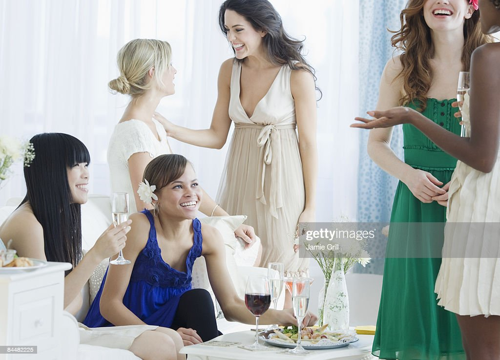 Group of friends at a cocktail party : Stock Photo