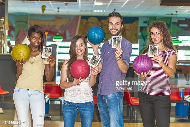 Group of friends at bowling