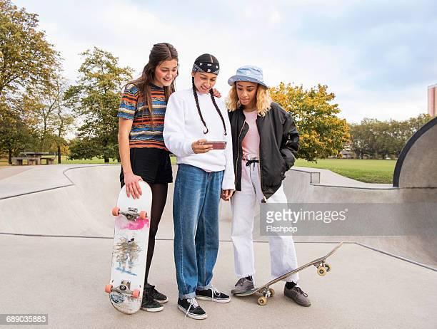 Group of friends at skatepark