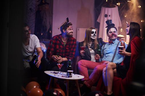 Group of friends celebrating Halloween - gettyimageskorea