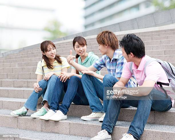 Group Of Friends Chatting
