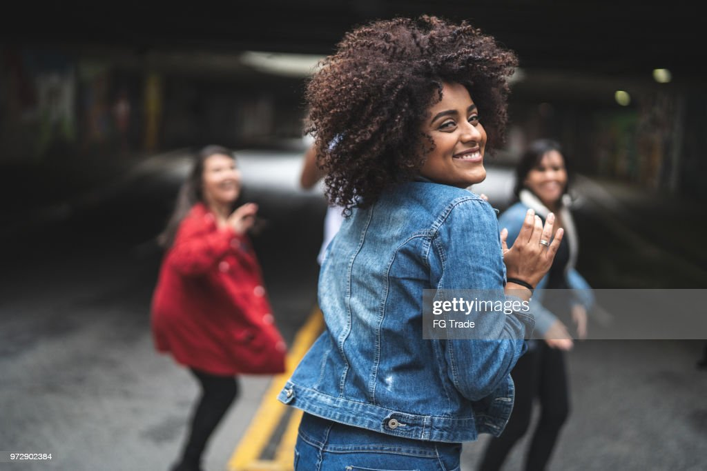 Group of Friends Dancing and Having Fun : Stock Photo