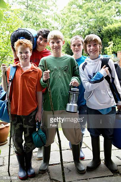 Group of Friends Going on Excursion