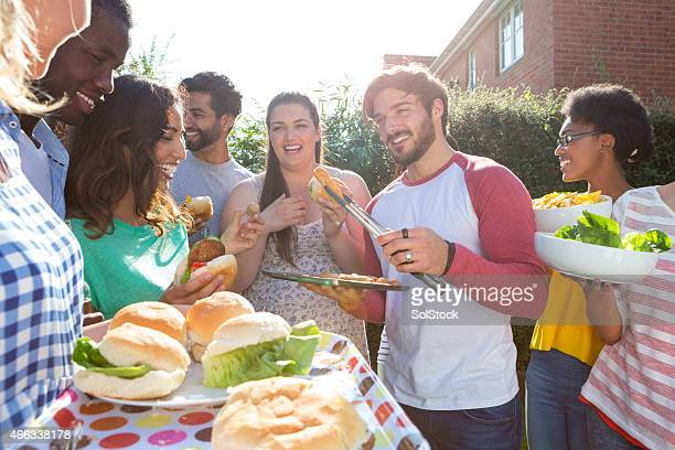 Group of Friends Having a Barbecue
