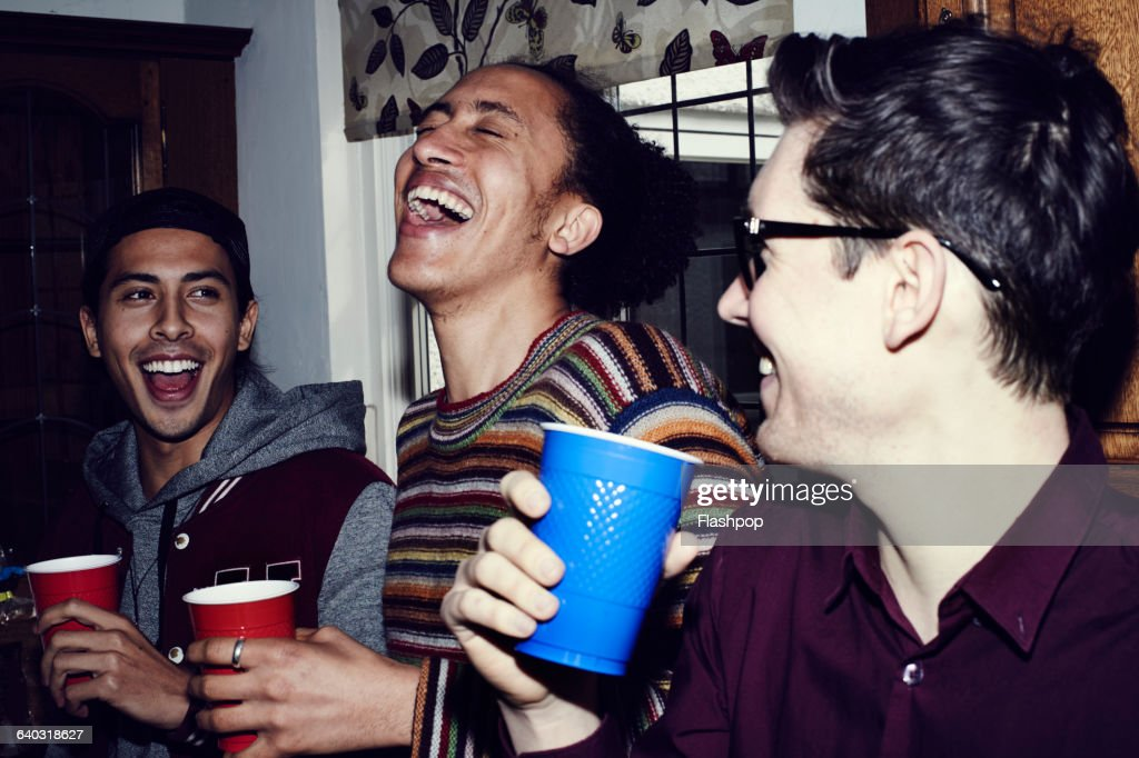 Group of friends having fun at a party : Stock Photo