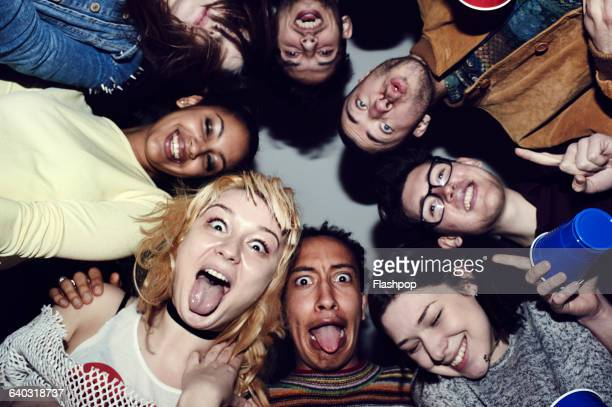 group of friends having fun at a party - low angle view stock pictures, royalty-free photos & images