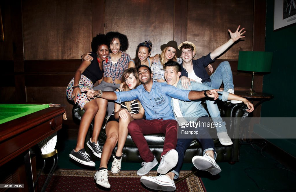 Group of friends having fun : Stock Photo