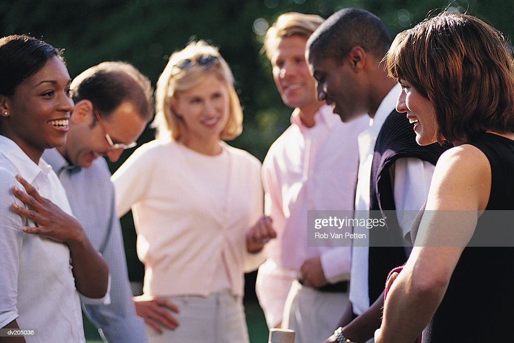 Group of friends having fun : Stock Photo