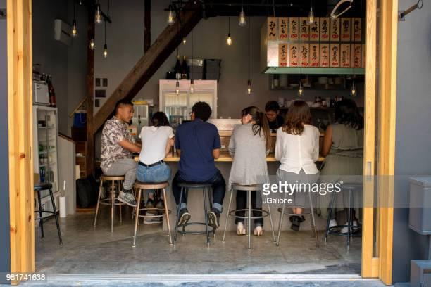 Group of friends in a Japanese Izakaya