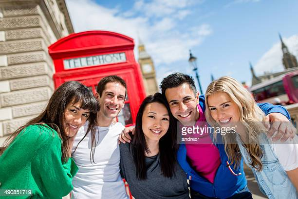 Group of friends in London