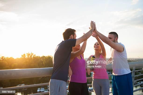 Grupo de amigos para correr juntos