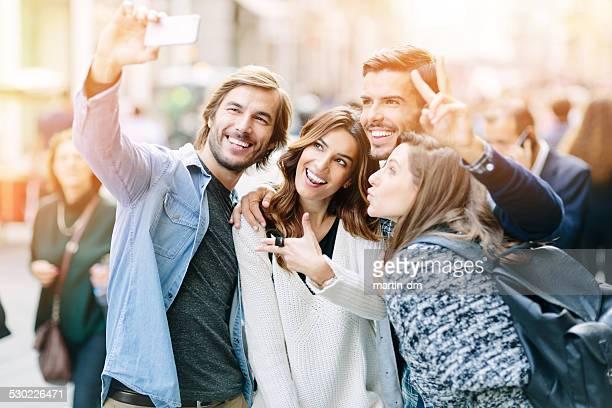 Gruppe von Freunden, Schülern ein