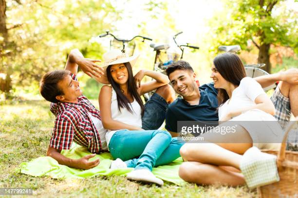 Group of friends on a picnic