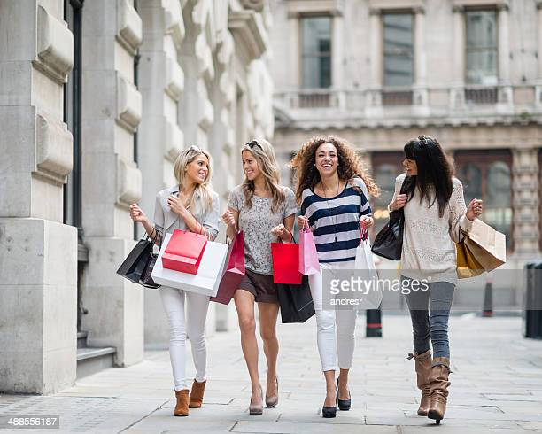 Group of friends shopping in the Mall